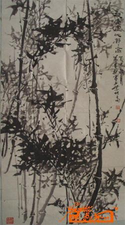万盘根 竹子 中国书画交易中心 中国书画销售中心 中国书画拍卖中心